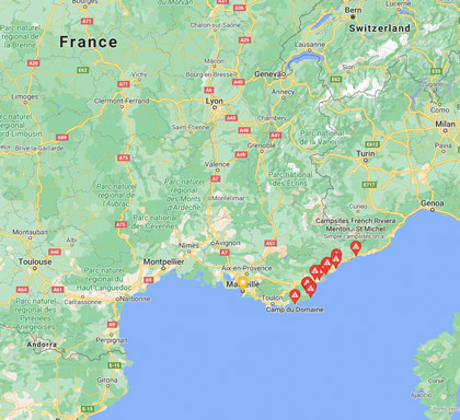 Campsites in French Riviera