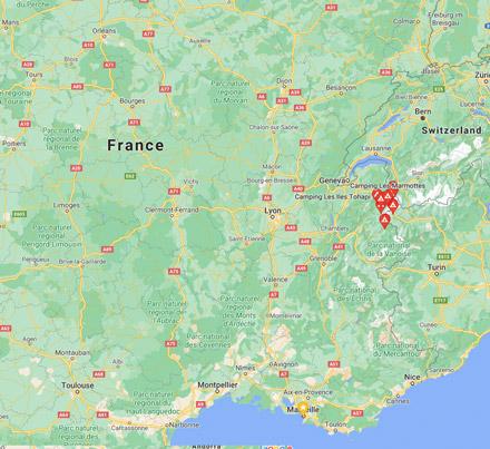 Campsites in Jura and Vosges